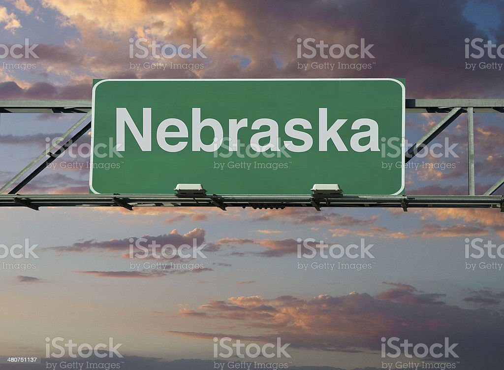 Nebraska Sign stock photo