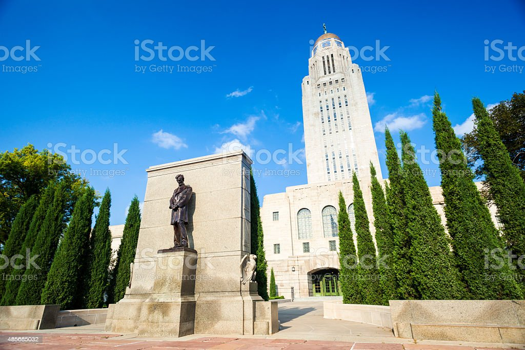 Nebraska State Capitol Building royalty-free stock photo
