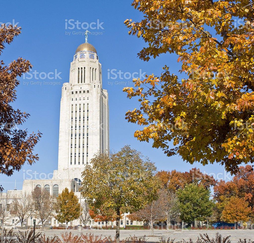 Nebraska State Capitol Building royalty-free stock photo