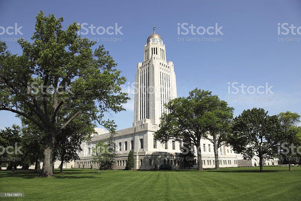 Nebraska State Capitol in Lincoln, Nebraska stock photo