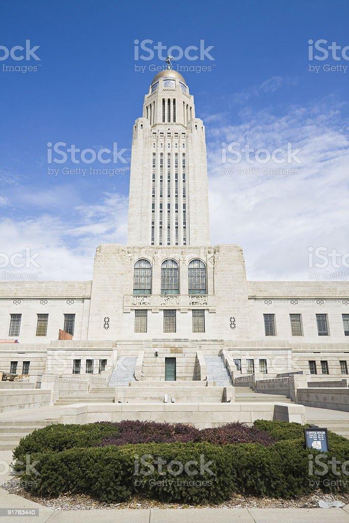 Nebraska - State Capitol royalty-free stock photo