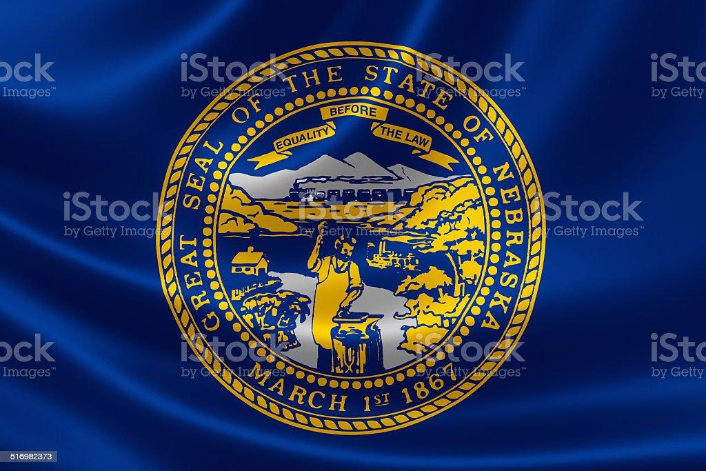 Nebraska State Flag stock photo
