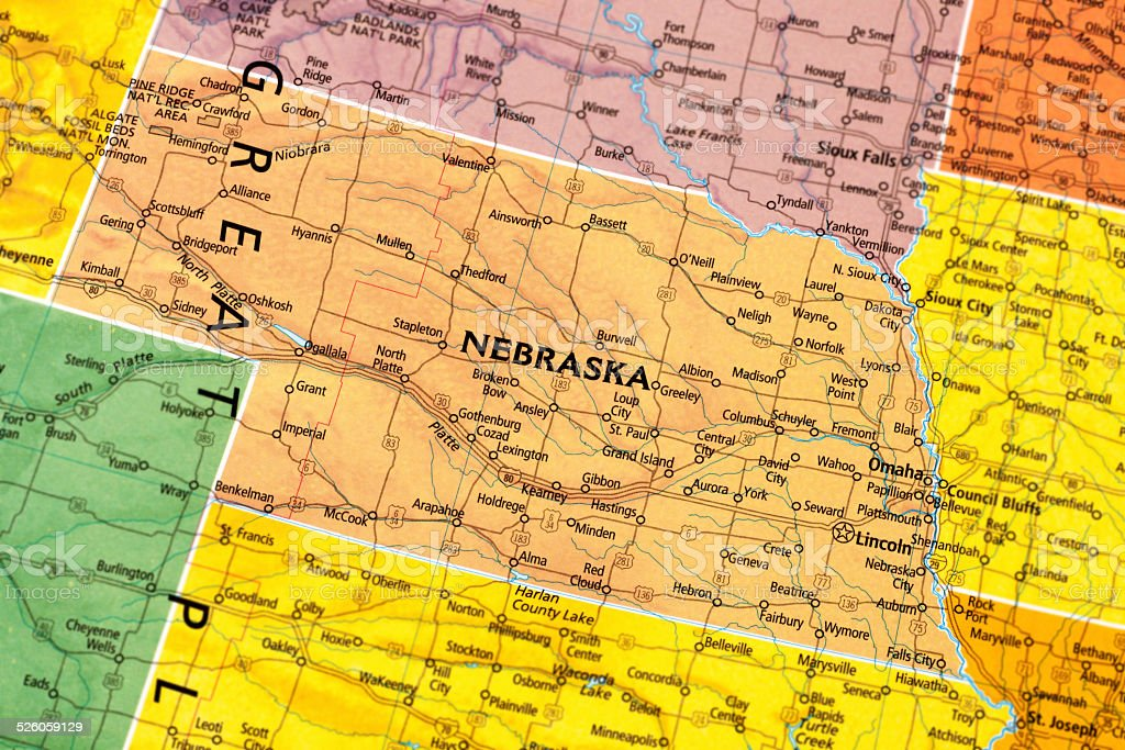 Nebraska State stock photo
