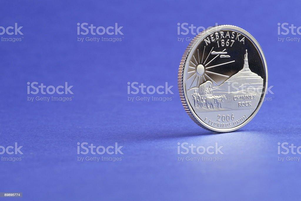 Nebraska State Quarter 2006 Coin royalty-free stock photo