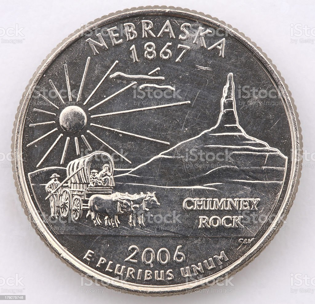 Nebraska State Quarter stock photo