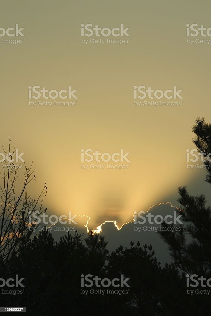 Nebraska sunrise royalty-free stock photo