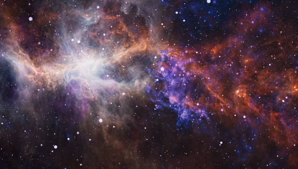 Bulutsusu ve galaksilerin uzayda. NASA tarafından döşenmiş bu görüntü unsurları. stok fotoğrafı
