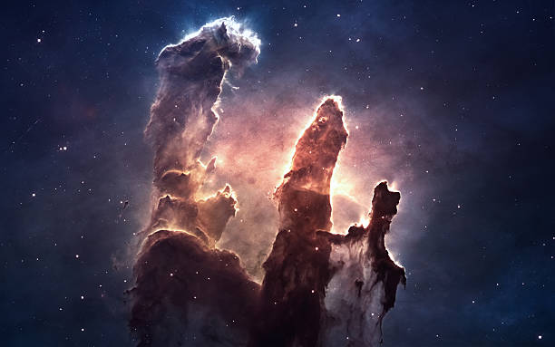 Nebula and stars in deep space, glowing mysterious universe. Elements Nebula and stars in deep space, glowing mysterious universe. Elements of this image furnished by NASA nebula stock pictures, royalty-free photos & images