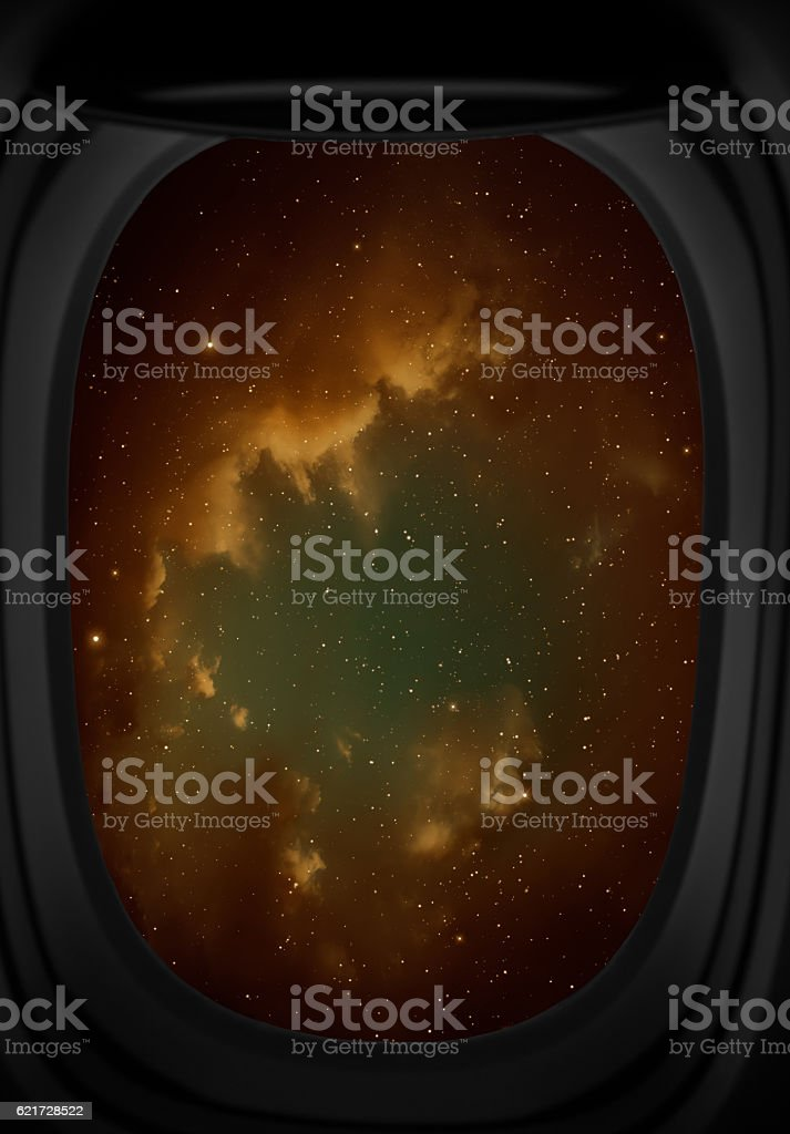 Nebula and stars. stock photo