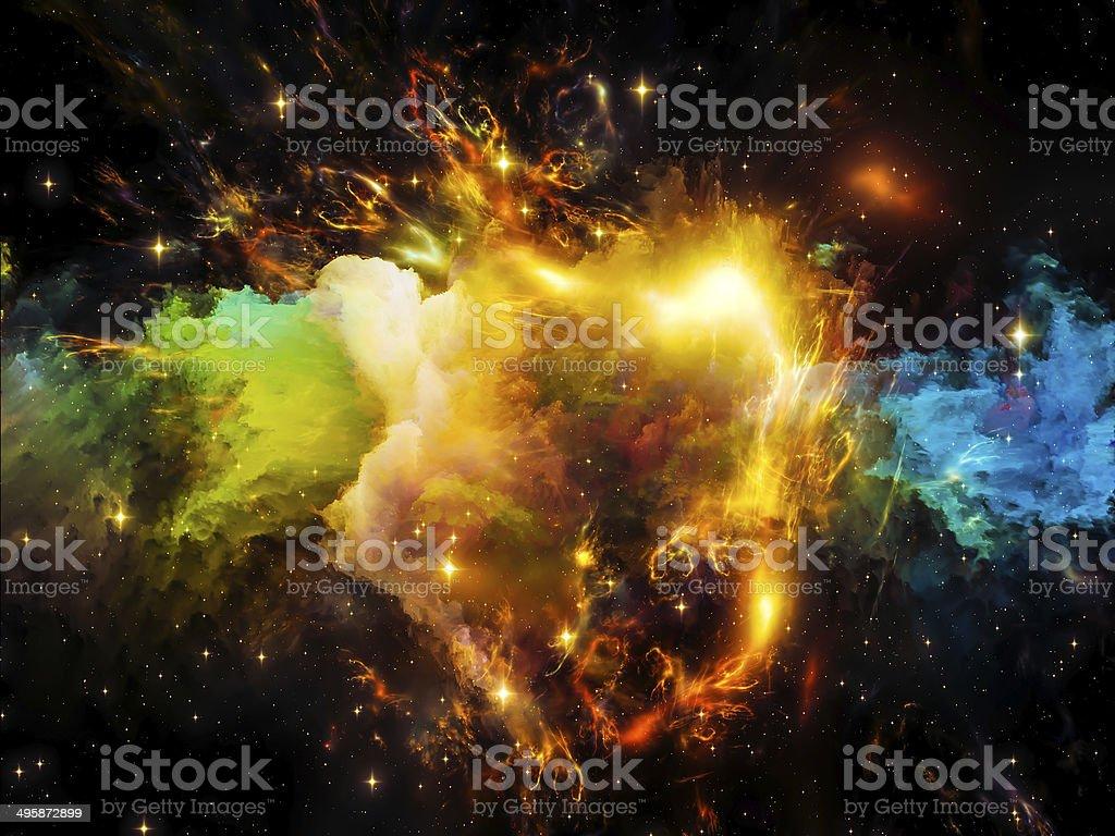 Nebula Background stock photo