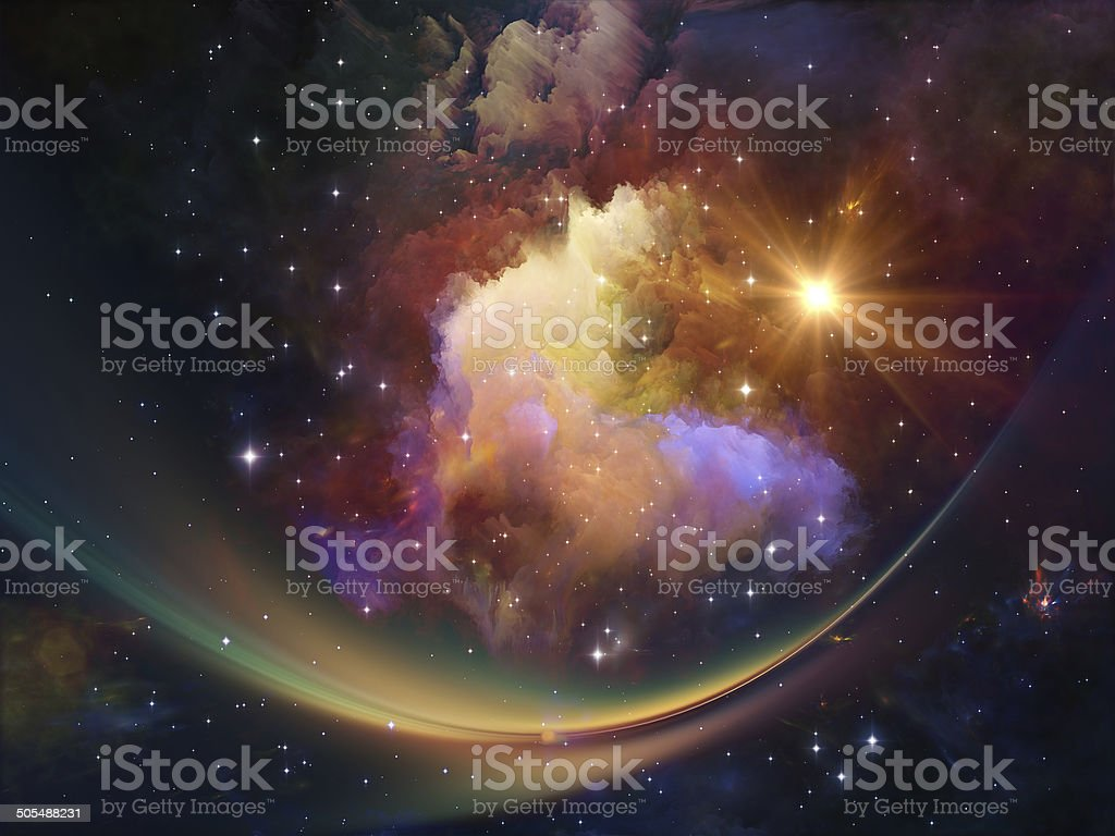 Nebula Composition stock photo