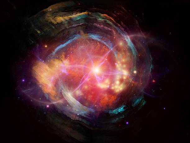 nebulosa di progettazione - big bang foto e immagini stock
