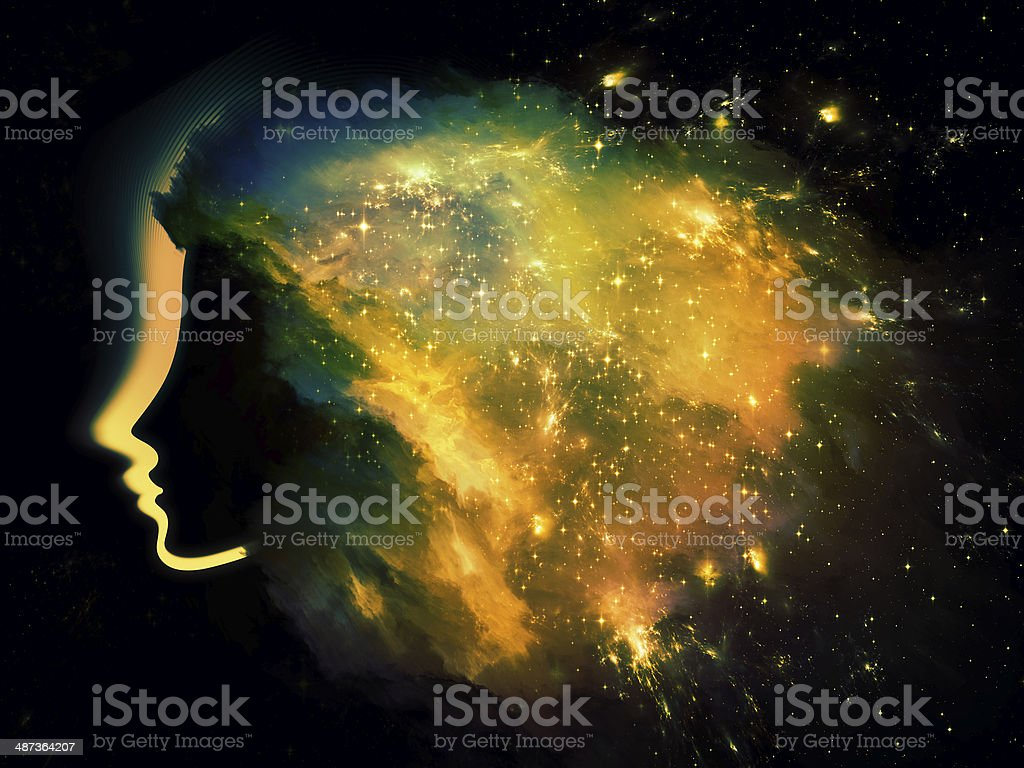 Nebula Girl stock photo