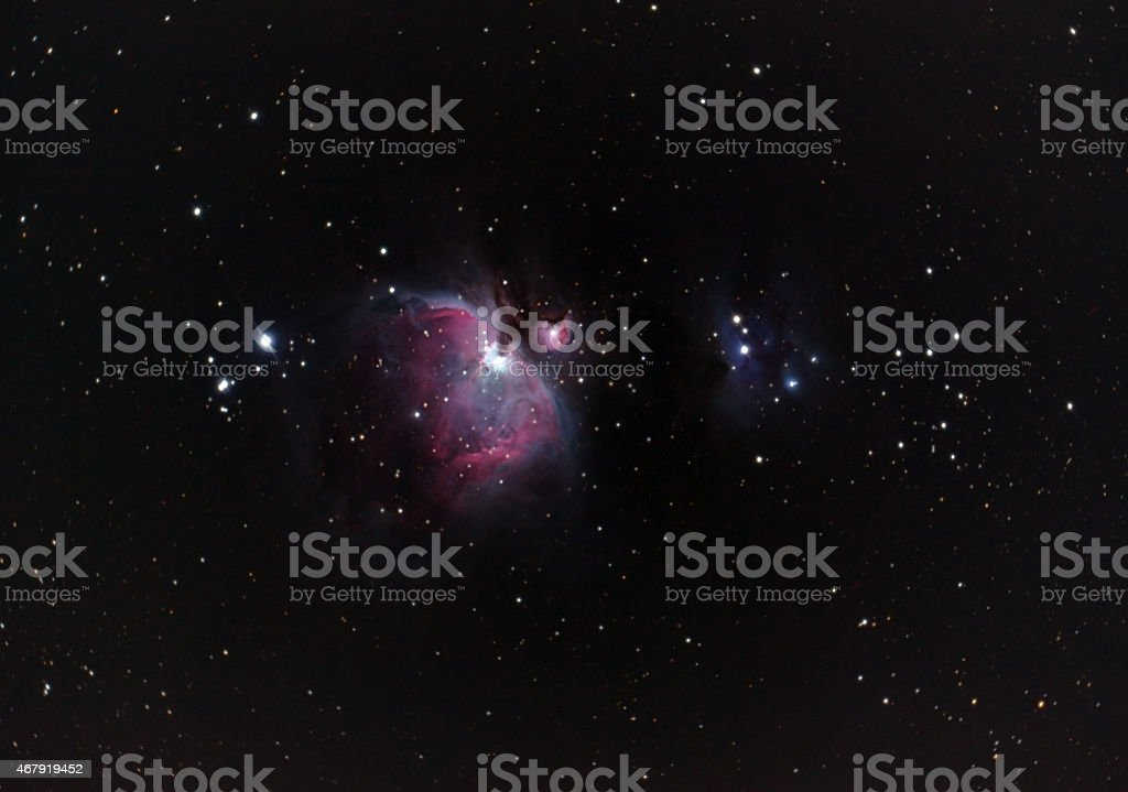 Nebula in Orion Messier M42 and Messier M43 stock photo