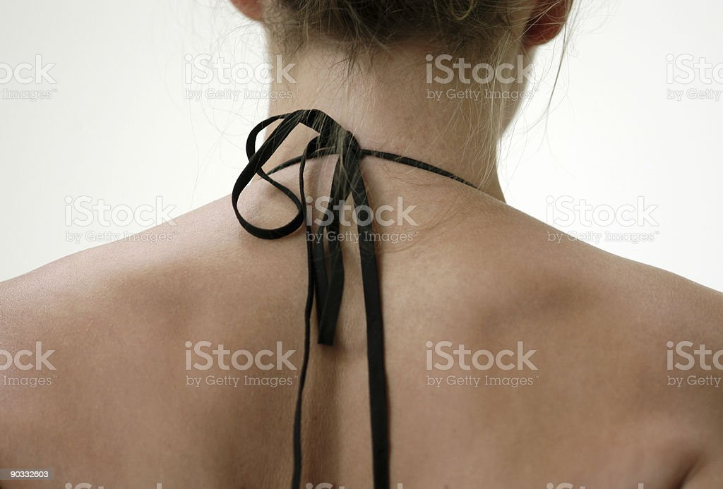 Neck and bow royalty-free stock photo