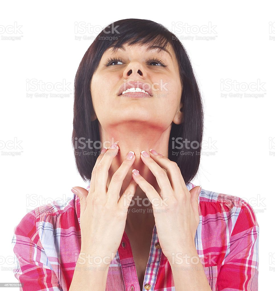 Neck Itching stock photo