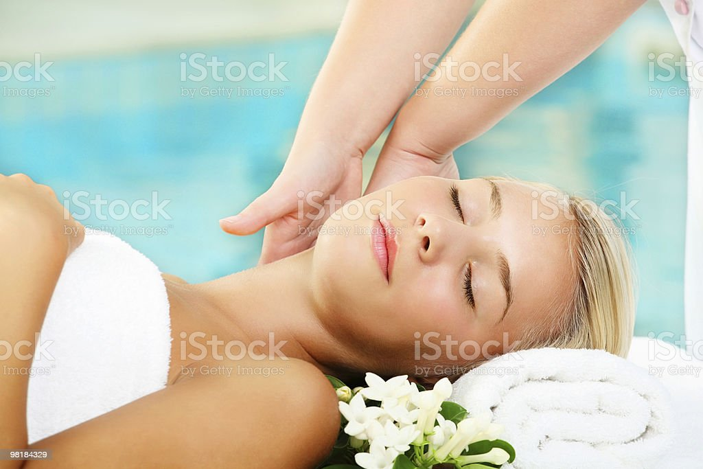 Neck Massage royalty-free stock photo