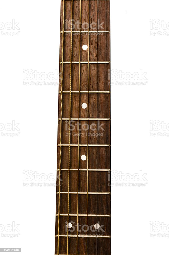 neck of a guitar stock photo