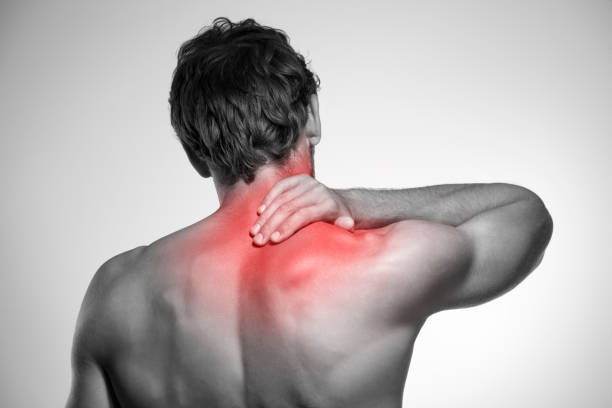 neck pain - chiropractic care stock photos and pictures
