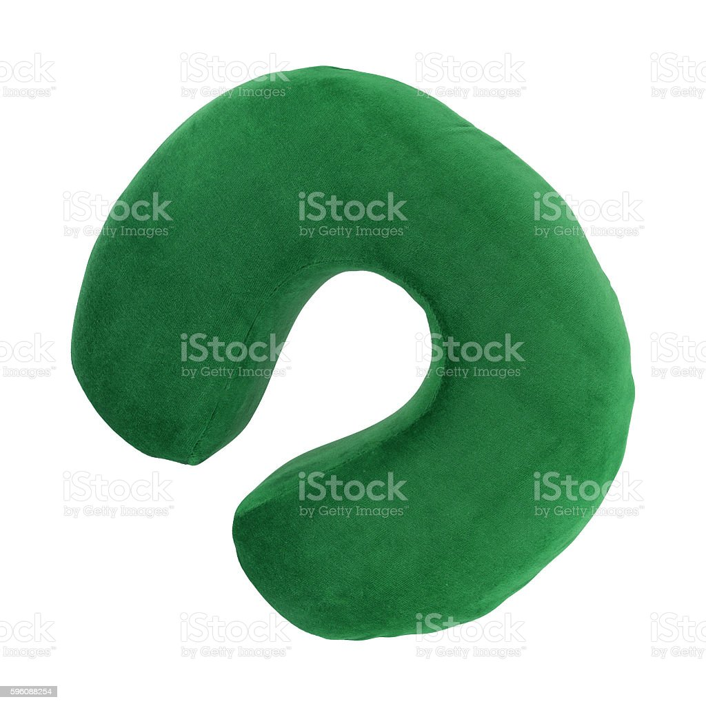 neck pillow isolated royalty-free stock photo