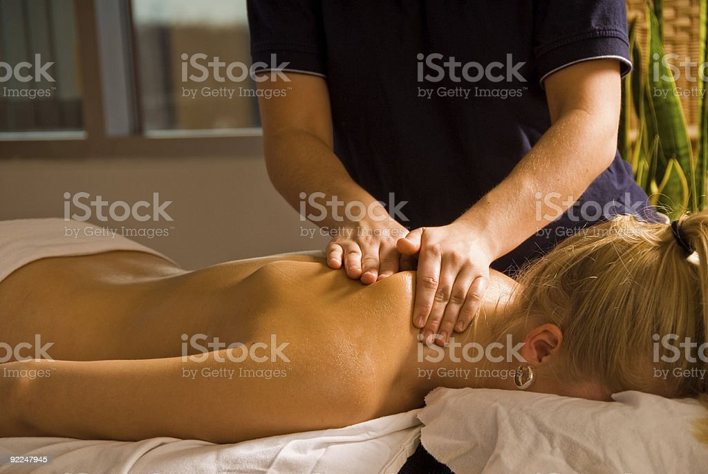 Neck Relief royalty-free stock photo