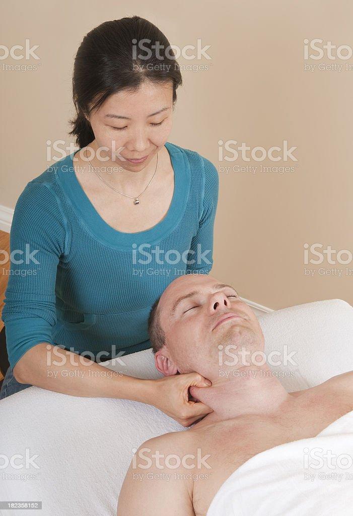 Neck  - Sports Massage Series royalty-free stock photo