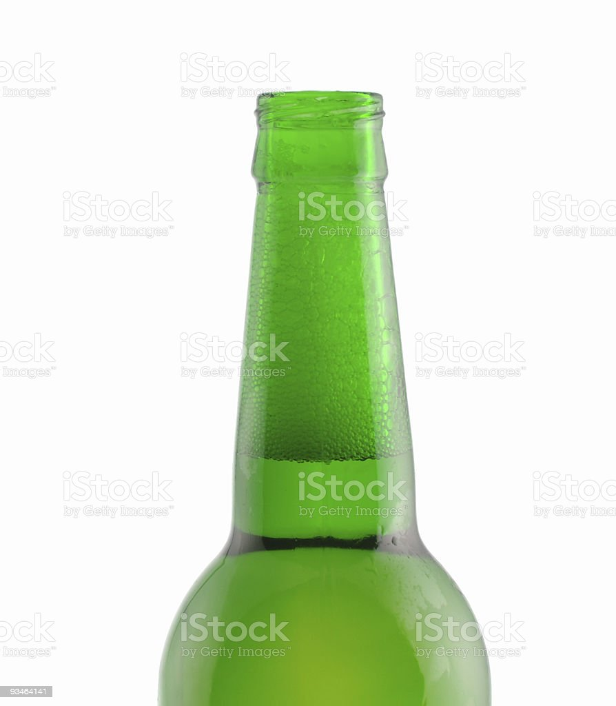neck the open bottle of beer royalty-free stock photo