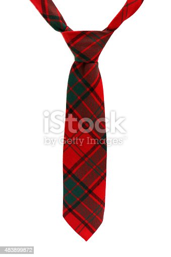 Neck ties isolated on a white background
