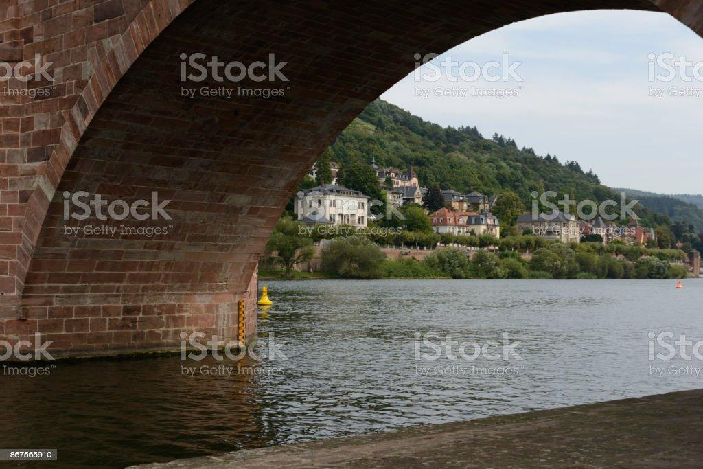 Neckar River, Heidelberg, Germany stock photo
