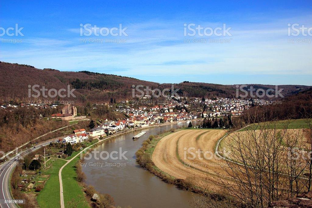 Neckar River stock photo