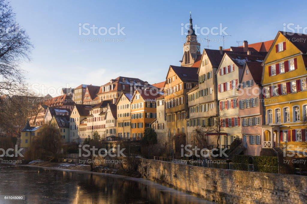 Neckarfront Tuebingen stock photo
