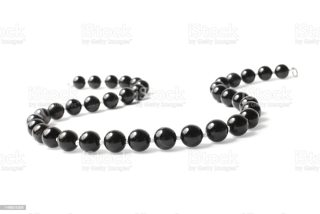 Necklace | agate beads stock photo