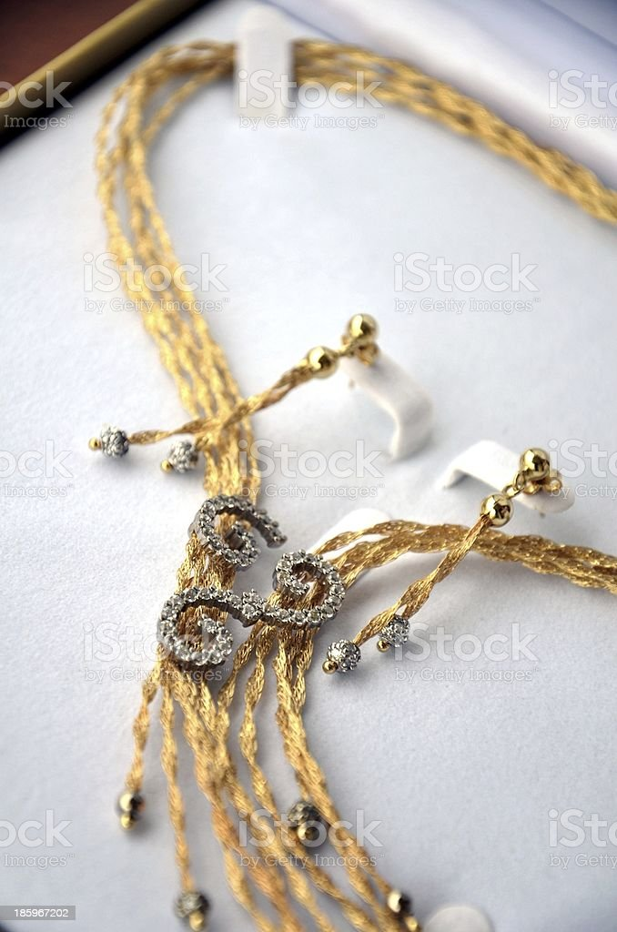 necklace and earrings royalty-free stock photo