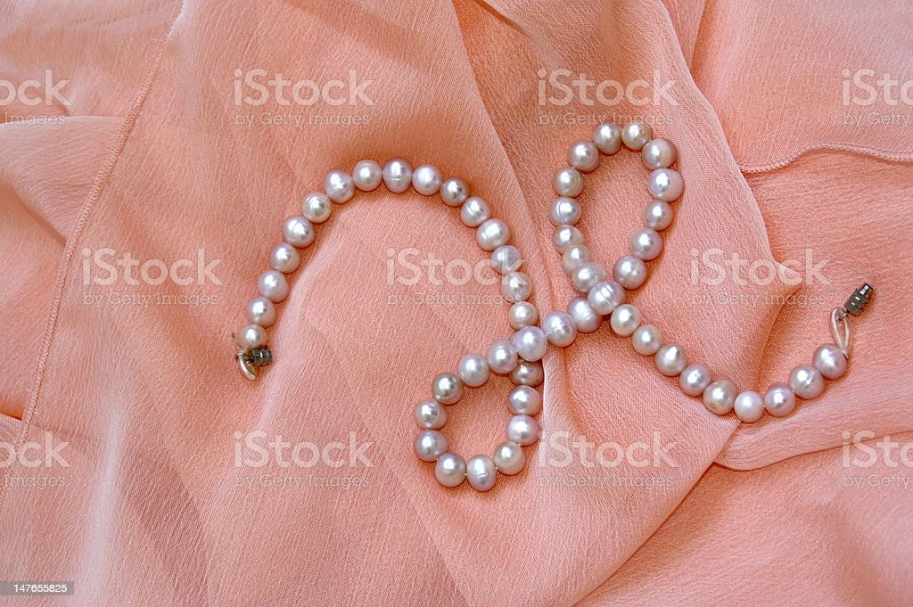 Necklace and scarf royalty-free stock photo