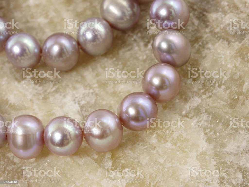 Necklace from a large pearls royalty-free stock photo