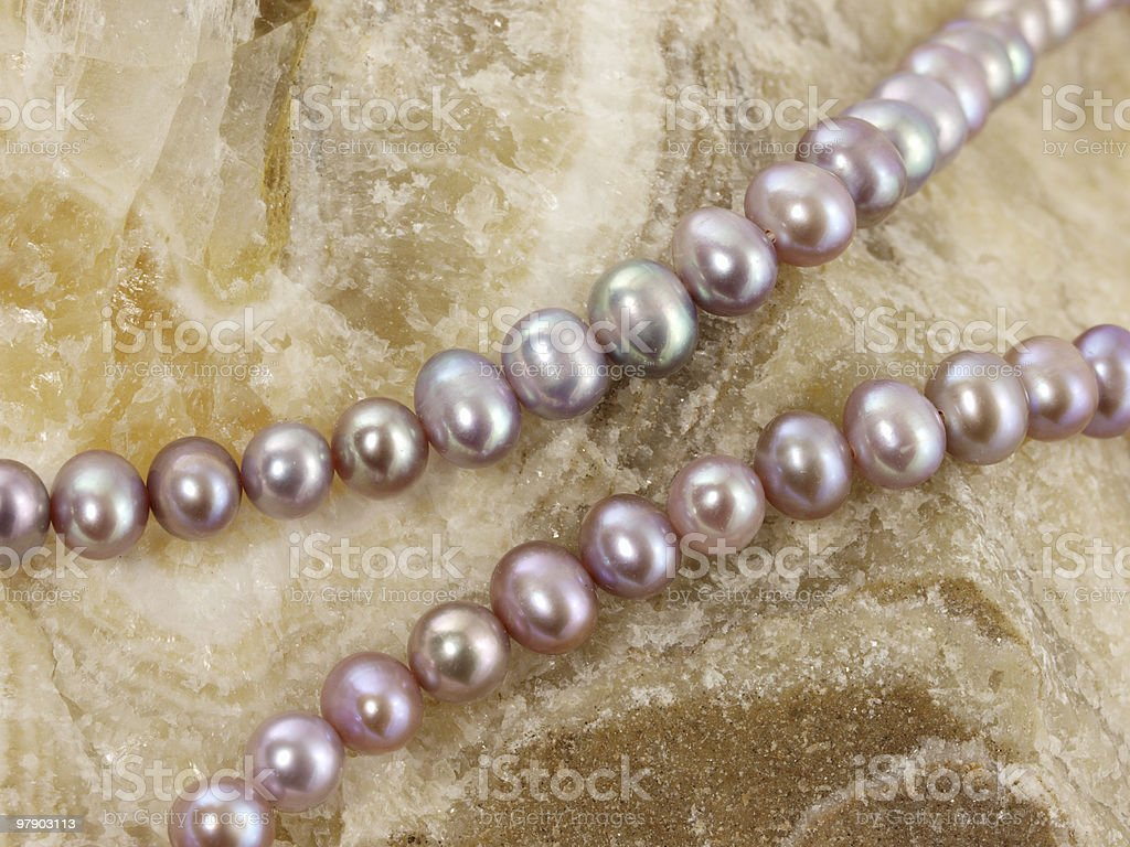 Necklace from a pearls royalty-free stock photo