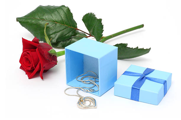 Necklace gift stock photo
