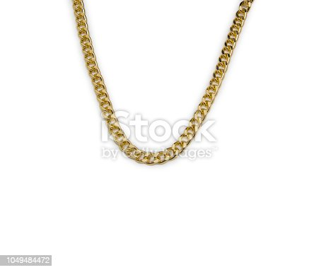 Necklace isolated on the white background