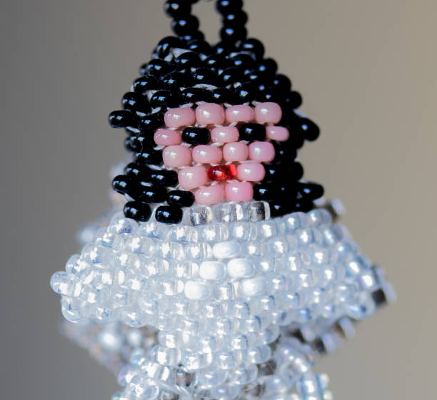 Necklace made of beads stock photo