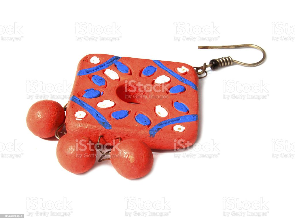 necklace made with clay. royalty-free stock photo