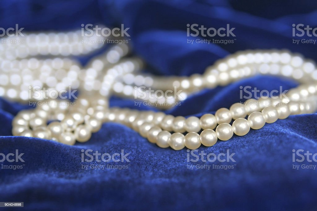 Necklace of pearls royalty-free stock photo