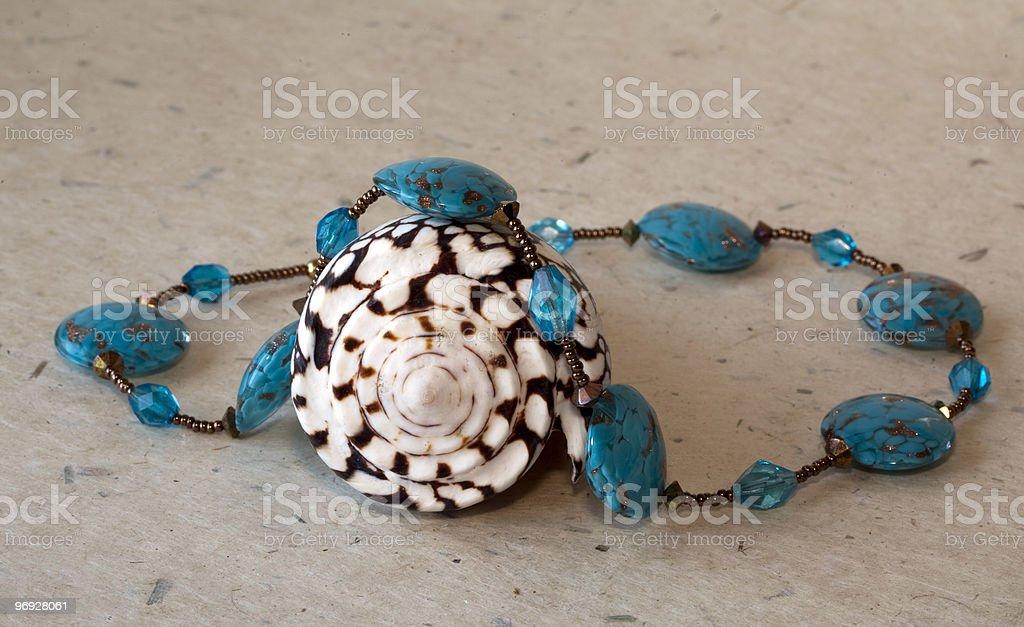 Necklace of semi precious royalty-free stock photo