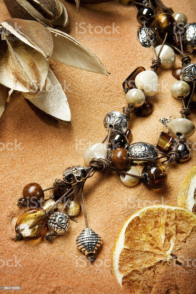 necklace on sand royalty-free stock photo