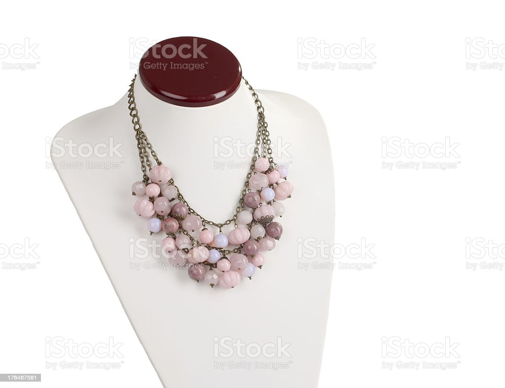 Necklace stand royalty-free stock photo