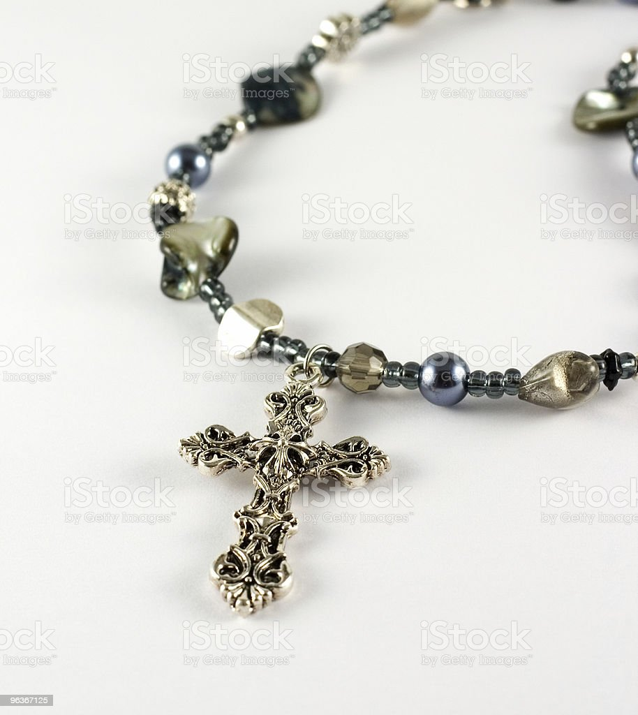 Necklace with Crucifix royalty-free stock photo