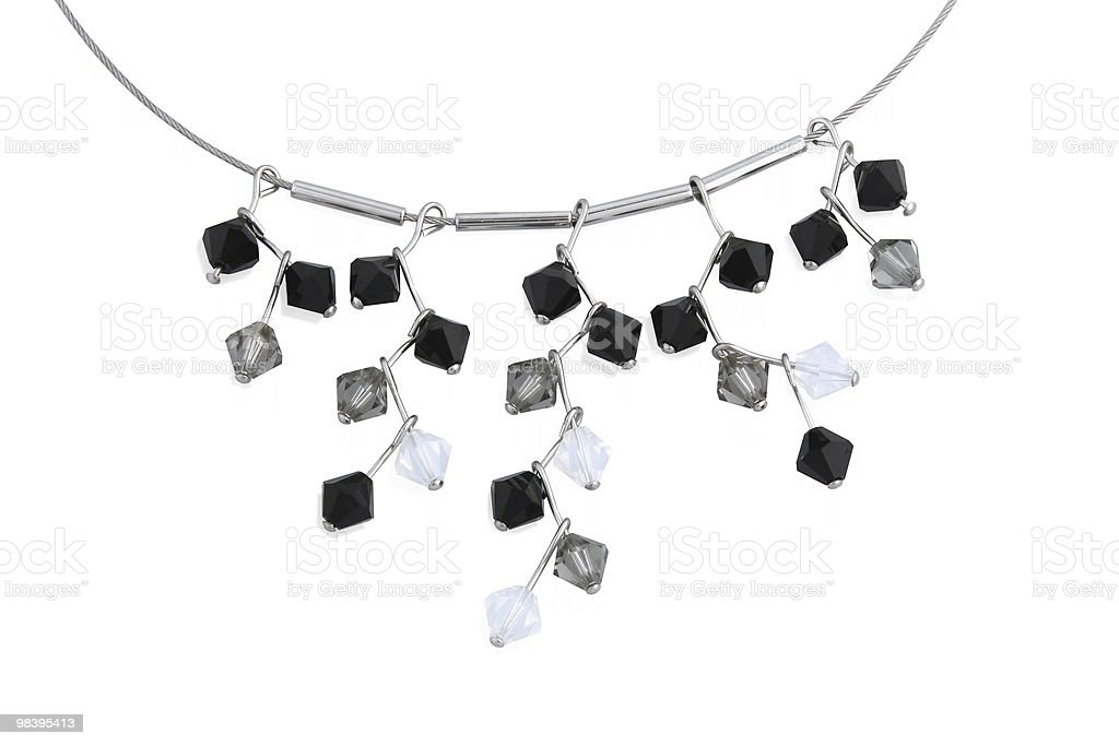Collana con cristalli. foto stock royalty-free