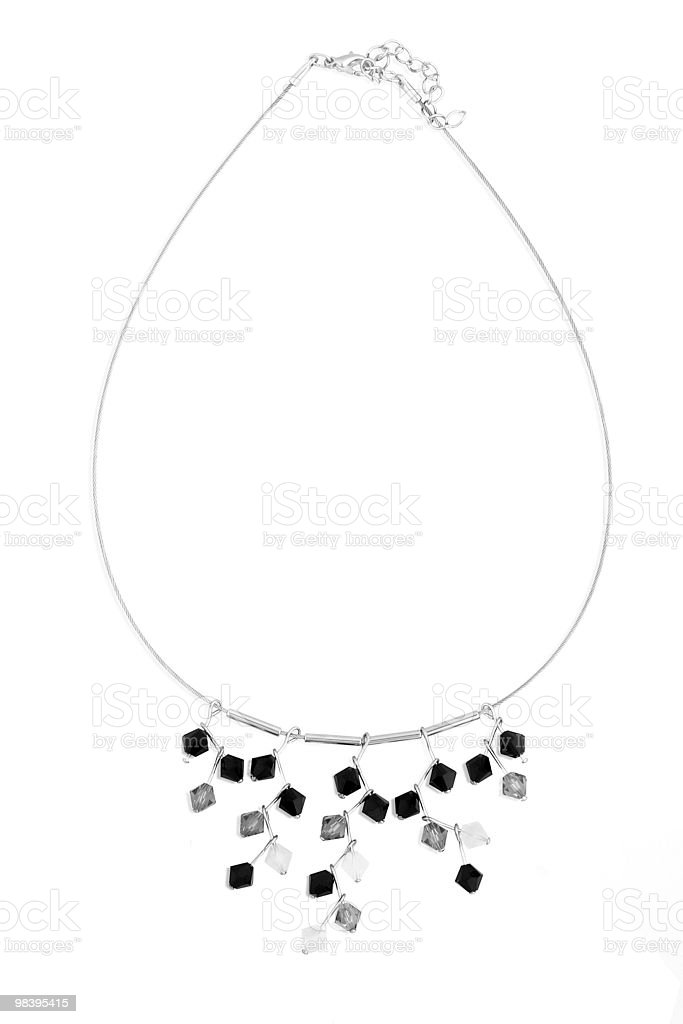 Necklace with crystals. royalty-free stock photo