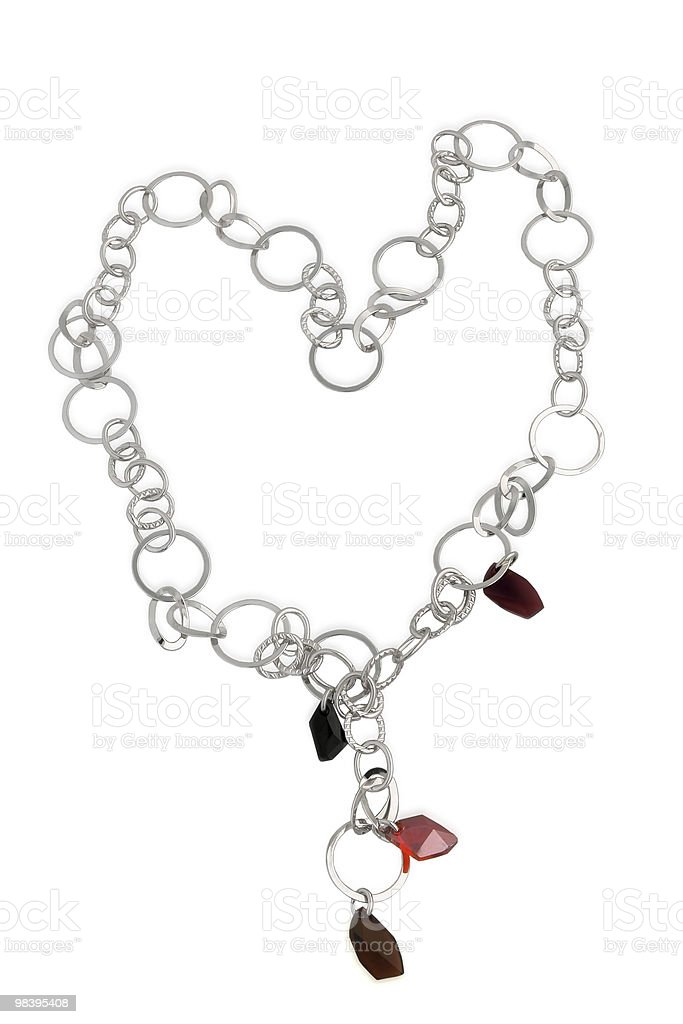 Necklace with semi-precious gems. royalty-free stock photo