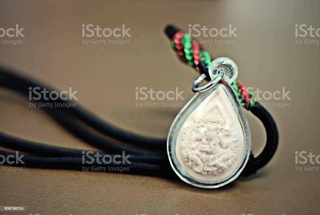 Necklaces, amulets stock photo