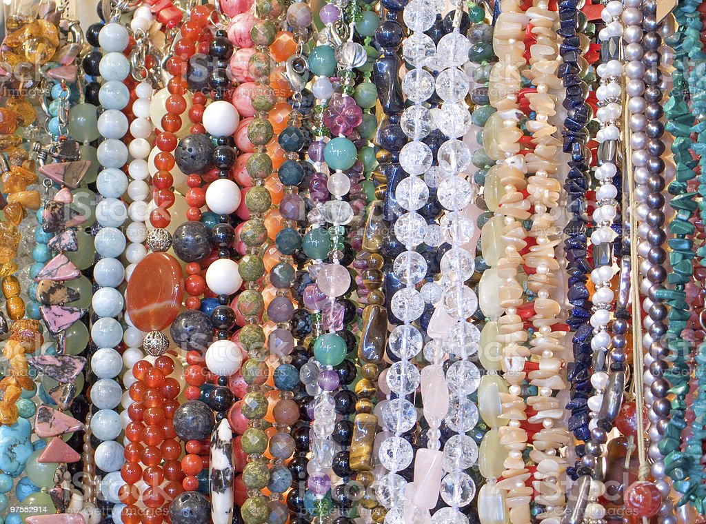 Necklaces royalty-free stock photo